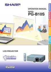 Sharp PG-B10S User Manual