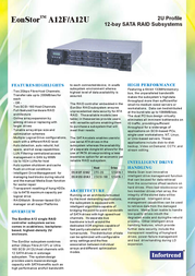 Infortrend A12F-G1A2 FC-to-SATA RAID Subsystem 12 drives in 2U rack space A12F-G1A2-M1 Leaflet