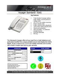 Interquartz 9281H05 Leaflet