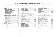 Buick 2011 Regal User Manual