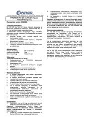 Proxxon Micromot NG 2/S Power Supply Unit 28 706 Leaflet