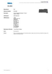 Origin Storage Internal Notebook Keyboard - French KB-J5825 Leaflet