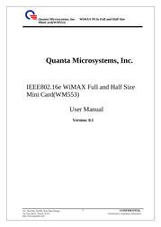 Quanta Microsystems Inc. WM553 User Manual