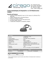Cirago HDX3DV01 Leaflet