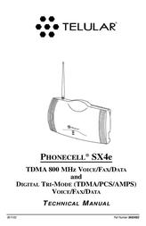 Telular SX4e TDMA User Manual