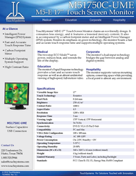 TouchSystems M51750C-UME Leaflet