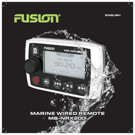 Fusion Electronics Marine Radio MS-NRX200 User Manual