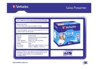 Verbatim CD-R AZO Wide Inkjet Printable 43325 Leaflet