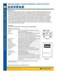 Williams Sound PFM 350 RCH User Manual