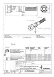 Telegaertner Telegärtner H86010B0000, Pin Plug, straight Metal H86010B0000 Data Sheet