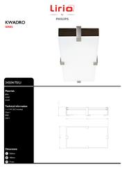 Lirio by Philips KWADRO 3450470LI Leaflet