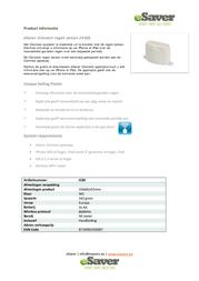 Esaver iConnect Wireless precipitation sensor IC60 Outdoors Max. range (open field) 50 m IC60 Data Sheet