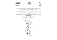 Grothe Video door intercom Corded Complete kit 74740 Detached Anthracite, White 74740 Data Sheet