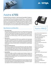 AASTRA 6755i A1755-0131-10-55 Leaflet