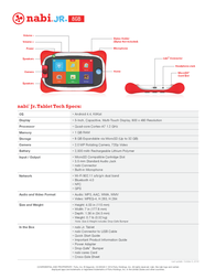 Nabi SNBJR-MT5C Specification Guide