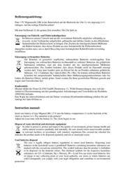 Eurotime Black Quartz Wall Clock 22221 Data Sheet