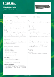 OvisLink GSH24W Leaflet