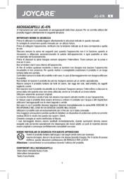 Joycare JC-476 V JC-476V User Manual