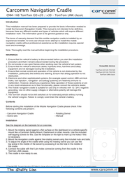 Carcomm CNM-166 Leaflet