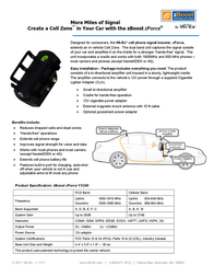 Wi-Ex zBoost zForce YX240 Leaflet