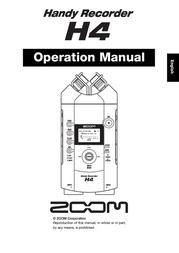 Samson H4 Handy Recorder H4 User Manual