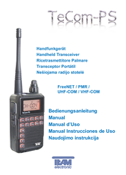 Team Electronic Ps N/A PMR Radio PR8059 User Manual