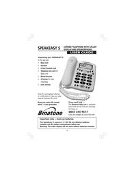 Binatone SPEAKEASY 5 User Manual