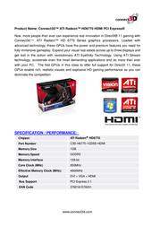 Connect3D C3D-H6770-1GD5E-HDMI Leaflet