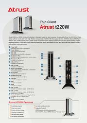 Atrust t220W T2200001-60 Leaflet