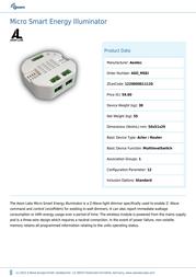 Aeon Labs Micro Smart Energy Illuminator MSEI Leaflet