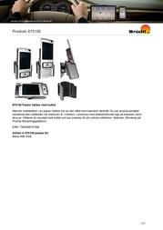 Brodit Passive Holder,Tilt Swivel 875156 Leaflet