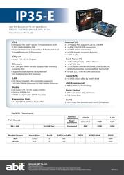 abit IP35-E Leaflet