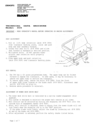Dixon BLOUNT 3O4 User Manual
