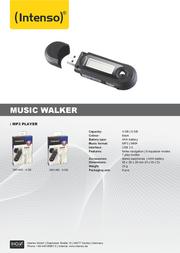 Intenso 4GB Musik Walker 3601450 Leaflet