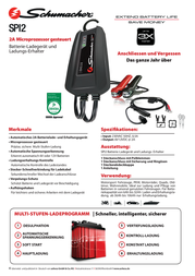Schumacher Automatic charger SPI3 Data Sheet