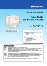 Panasonic KX-P8415 User Manual