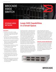 Brocade 4920 Fibre Channel switch BR-4920-0001-A1 Data Sheet