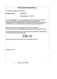 Maas Elektronik Security headset KEP-32-K 1810 1810 Declaration Of Conformity