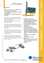Digicom PCI LAN GIGA 32 8E4191 Leaflet