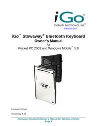 Mobility Electronics iGo User Manual