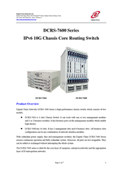 DCN MRS-PWR-A1-AC, 220V AC Power Supply (400W) for DCRS-7604(R3) 610401GPWR-A1AC User Manual