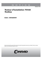 Testboy TestboyVDE-tester Testboy TV 445 User Manual