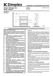 Dimplex MCN20 User Manual