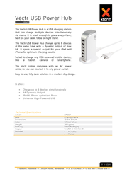 Xtorm By A Solar USB charger Mains socket Xtorm by A-Solar XPD07 USB 6 x 1500 mA XPD07 Data Sheet
