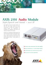 Axis 2191 AUDIO MODULE 0143-002-01 Leaflet