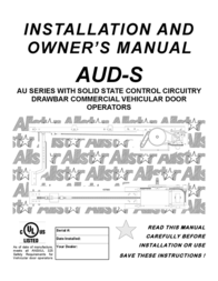 Audi AUD-S User Manual