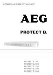 AEG PROTECT B. 750 User Manual