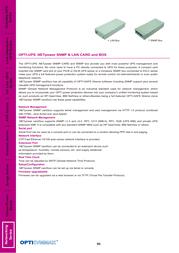 OPTI-UPS SNMP Box Leaflet