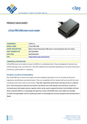 C3PO LTC36 PRO USB 00LT36U01N00 Product Datasheet