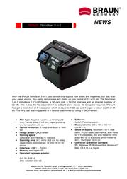 Braun Photo Technik Novoscan 3-in-1 34514 Leaflet